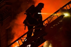 A two-alarm fire broke out at 37 Garnet St., Brooklyn, around 12:30 a.m. on Thu., May 6, 2021. Fire spread throughout the two-story dwelling and extended to the building next door. The fire took over an hour to bring under control, and its cause was under investigation.