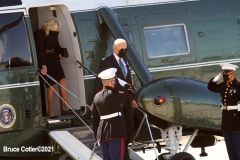 New York, President Joseph Biden and First Lady Jill Biden Depart from John F. Kennedy Airport. President and First Lady were at the 20th Anniversary ceremony at Ground Zero after there ceremony, they were headed to Shanksville PA. and then to The Pentagon
