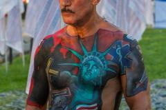 911 10 year anniversary, illustrated man  Photo by Sharron Lee Crocker