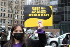 NEW YORK - Rise up Against Asian Hate Rally held at Foley Square in Manhattan. Politicians and victims speak out against Asian Hate Crimes which have been on the rise in New York City. Photos: Bruce Cotler