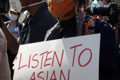 New York-  Stop the Hate Rally held at City Hall Park. Groups protested the recent rash of attacks against the Asian community.