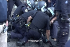 May 29th Barclay's protesters clash with NYPD Tear Gas was used