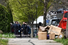 April 18, 2021 Barricaded EDP 214 Market Street Staten Island, NY For Credit:  Mary DiBiase Blaich  Police were called to 214 Market Street in West Brighton, Staten Island shortly after 10:30 am this morning for a barricaded EDP.  The 120 Sgt requested ESU-T5, ESU-5, HNT and TARU.  The individual was placed in custody shortly after 11 AM, and removed by ambulance to Richmond University Medical Center.