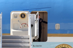 New York, President Joseph Biden arrives at John F. Kennedy Airport on Tuesday, September 7,  To Survey Damage caused by Hurricane Ida. The President  traveled to Manville, New Jersey and Queens, New York