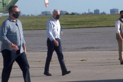 New York, President Joseph Biden departs  John F. Kennedy Airport on Tuesday, September 7,  after Surveying the damage caused by Hurricane Ida. The President  traveled to Manville, New Jersey and Queens, New York