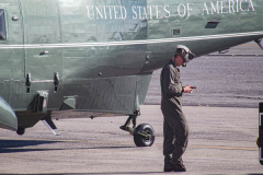 A young soldier awaits for the arrival of President Joe Biden at JFK airport on his way to the UN General Assembly which kicks off on September 21, 2021. (C) Bianca Otero September 20, 2021.