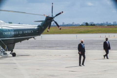 """President Joe Biden unboards Marine One after returing from the 76th UN General Assembly in which the President spoke for the first time at the Assembly. President Biden declared that the US will use """"relentless diplomacy"""" instead of military means like that of the Afghanistan """"relentless war"""" and that the next decade is a """"decisive decade"""" for the world and our decisions will determine the global community's future. (C) Bianca Otero September 21, 2021   (C) Bianca Otero September 21, 2021"""