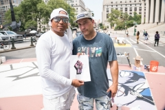 Black Lives Matter Mural begins in Foley Square.