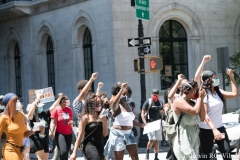 Black Woman's Empowerment March at Trump Tower in Manhattan