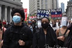 Protestors during a Black Lives Matter protest in Foley Square on 02, June 2020 in New York City