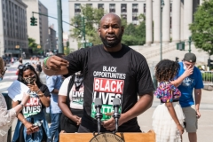 Press Conference for Black Lives Matter mural at Foley Square.