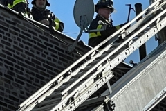 FDNY: 1 dead, 5 firefighters injured in 3-alarm fire in the Bronx.   One person was killed and five firefighters were injured in a three-alarm fire in the Bronx Tuesday, according to the FDNY.   The FDNY says the fire started around 12:24 p.m. on 64 W. 165 St.   They say the flames started on the fourth floor of the building through the plumbing pipes.    Authorities have not yet released the man's identity.   A total of 33 units, including 138 fire and EMS members, were on the scene. The fire is under control at this time.    The cause of the fire is under investigation, according to officials.
