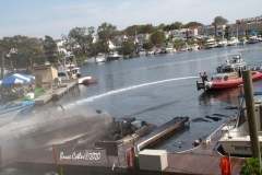 Multiple Boats go up in a blaze in a Sheepshead Bay Boat Marina.  Special units were called in to extinguish boats that were engulfed in flames, smoke could be seen for miles as boats burned and at least one capsized while it was moored in it's dock space.   8/14/2020