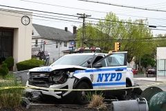 Police responded to a vehicular accident on Sunday evening in Staten Island at the intersection at Forest Avenue and Broadway in West Brighton. The accident involved a NYPD  vehicle plus a livery car and a private vehicle. Several people were injured including police officers. A woman waiting for a bus was struck by the police vehicle and taken to Staten Island University Hospital.
