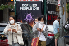 Caravan protesting CCP in Tribeca, NY on Saturday, June 12, 2021.
