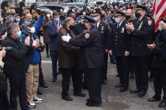 New York City December 31 , 2020 Retirement of NYPD Chief Scholl  Walkout ceremony is the final day that a police officer works where friends, Coworkers and family gather to congratulate them for the service that they provided to the community. Chief Scholl leaves the 60th Precinct in Coney Island Brooklyn.