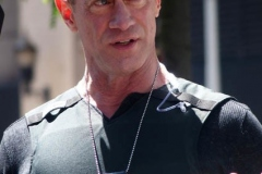 """Christopher Meloni seen on the set of """"Law and Order: Organized Crime"""" in Manhattan on May 12, 2021 in New York City"""
