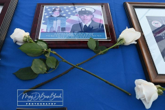 USCG Sector New York   20th Remembrance Ceremony Sector New York Ft Wadsworth Staten Island, NY Photographs by:  Mary DiBiase Blaich  Friday, September 10, 2021:  The Coast Guard held a 20th remembrance ceremony at the overlook in Ft Wadsworth at 8 am this morning.  They lost four of their own on 9/11:  Vincent G Danz, Jeffery A Palazzo, Gilbert F Granados; and Gregory R Sikorsky.  Three were Reservists and one an Auxiliary member of the USCG. The ceremony began with a muster; followed by the arrival of officials.  There was an observation of morning colors and two USCG aircraft performed a flyover.  The invocation was read by Captain Thomas J Walcott, Chaplain of the USCG; a welcome was rendered by Captain Zeita Merchant, Commander, USCG Sector Nre York.  Remarks were by Rear Admiral Michael H Day; and an introduction by Rear Admiral Thomas Jj Allan Jr . Remarks were given by Admiral Karl L. Schultz, Commandant, USCG.  Taps followed the service.