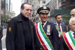 New York,  77th Columbus Day Parade returns to New York City. after it was cancelled last year due to Covid. Marchers and Bands walk up 5th ave.  chazz Palminteri