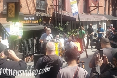 Several Comedy clubs from NYC held a rally to urge Gov. Cuomo to open up their venues.