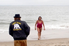 The Coney Island Polar Bear Club is the oldest winter bathing club in the United States founded in 1903. They swim every Sunday November-April at 1 PM.
