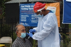"""Covid pop up testing center sets up in one of the Brooklyn neighborhoods that has a rising number of positive Covid patients . N.Y.C. Health and Hospitals sends out teams to test residents in the neighborhoods to try and curb the spread of Covid. Text """"Covid Test"""" to 855-48 for locations. They are located for this week Monday to Friday 10am -5pm at Avenue V and Brown Street near the Herman Dolgin Park."""