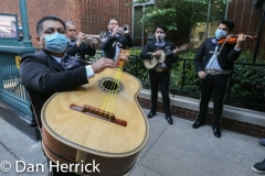 May5. 2020 : A Mariachi Band brought in from a local restaurant comes to perform for the healthcare workers at 7pm.