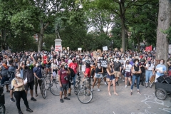 Mass march to Defund the NYPD in Washington Square Park.
