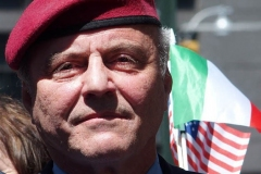 Mayoral candidate Curtis Sliwa at an Italian-American community group demonstration in Columbus Circle in New York on May 12, 2021 in support of Italian Heritage and Columbus Day.