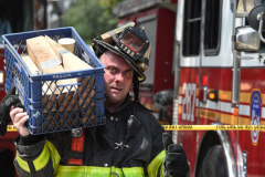 Explosion may have been suicide: An explosion that blew the roof off a Jackson Heights, Queens apartment building may have been part of suicide of a man found stabbed dead in his top-story home, police sources said Wednesday. Anesti Bulgaresti, 26, suffered from depression and other ailments and had been unemployed for two months before Tuesday morning's explosion, cops said. The blast destoyed the 7th floor penthouse apartment and left large chunks of the wall precariously tilting towards other structures below. Its cause remains under investigation.  (Photo by Todd Maisel)