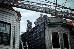 Two Alarm Fire . . FDNY firefighters at the scene of a two alarm blaze on East 180th street and Park Avenue in the Bronx Sunday afternoon. There were no injuries.