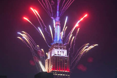 The 2021 Macy's Fireworks Over the Empire State Building