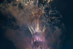 The 2021 Macy's Fireworks Over the Empire State Building on 04 July 2021