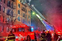 four alarm fire on January 5, 2021 on Post Ave in Inwood, Manhattan