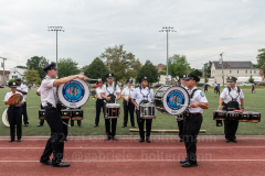 The NYPD band entertains the crowd at the inaugural flag football tournament in memory of Det. Keith Williams. (Photo by Gabriele Holtermann)