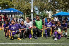 The summer heat didn't stop players to give it their all at the inaugural flag football tournament in memory of Det. Keith Williams. (Photo by Gabriele Holtermann)