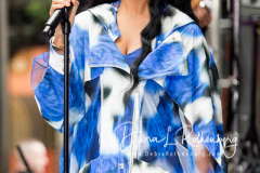 H.E.R. performs on the Today Show at Rockefeller Plaza on June 25, 2021 in New York City