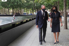 Governor Kathy Hochul and former Mayor Michael Bloomberg visit the 9/11 Memorial