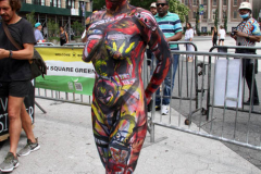 New York 8th annual Body Painting Day.cover 50 artists and models came out to showcase there talent and paint living canvasses after the painting portion of the event they all walked down 5th ave to Washington Square park to pose for photographs and then boarded a Double Decker bus to Bushwick Brooklyn to celebrate.