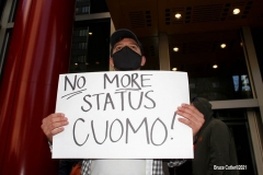 New York- Rally held in front of  New York Governor Andrew Cuomo's office in Manhattan  for him to resign or for his impeachment due to the complaints of 8 female employees.