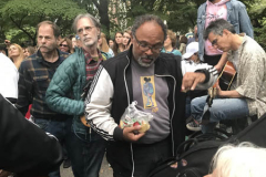 Geoffrey Owen from The Cosby Show at the Memorial for John Lennon on what would have been his 81st birthday on Oct. 9 Photo by Diane Cohen