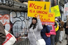 New York- Laundry workers rally  in Chinatown against a company who are trying to break the workers union.