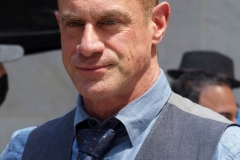 """New York-   Filming the Television show"""" Law and Order- Organized Crime"""" in  the financial District of Manhattan Christopher Meloni"""