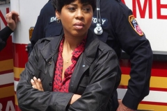 """New York-   Filming the Television show"""" Law and Order- Organized Crime"""" in  the financial District of Manhattan Danelle Mone Truitt"""