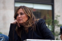 """New York-   Filming the Television show"""" Law and Order- Organized Crime"""" in  the financial District of Manhattan Mariska Hargitay"""