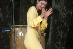 New York,  Lorde performs in New York's Central park for the Good Morning America Concert series.