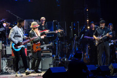 Robert Randolph, Billy F. Gibbons and Bernie Williams perform at the Fifth Annual Love Rocks NYC benefit concert for God's Love We Deliver at the Beacon Theatre on June 3, 2021 in New York City.