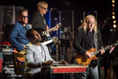 Robert Randolph, Joe Bonamassa and Warren Haynes perform at the Fifth Annual Love Rocks NYC benefit concert for God's Love We Deliver at the Beacon Theatre on June 3, 2021 in New York City.