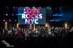 All participating musicians onstage for the final song of the night at the Fifth Annual Love Rocks NYC benefit concert for God's Love We Deliver at the Beacon Theatre on June 3, 2021 in New York City.