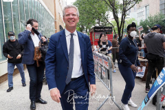 Shaun Donovan at a New York City Democratic Mayoral Candidate Pre Debate Rally along Columbus Avenue before his first debate on ABC TV
